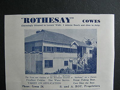Rothesay Guest House Cowe S & A Roy Proprietor