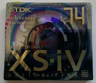 MINIDISC MD TDK XS-IV Limited Series 1x MD-XS74ABEA BOW WOW WOW NEW SEALED