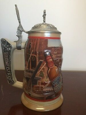 Budweiser Stein - 1999 Membership Stein with Lid Numbered - REDUCED