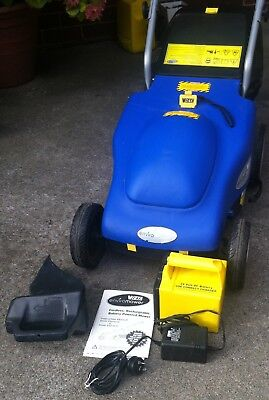 Victa Enviromower cordless lawn mower with catcher, charger, needs new battery