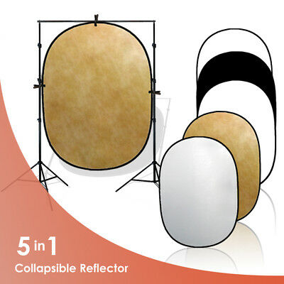 5 in 1 Photography Studio Multi Photo Video Disc Collapsible Light Reflector