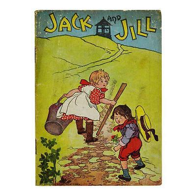 Rare McLoughlin Bros Linen Jack and Jill Childrens Book