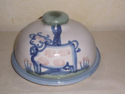 M. A. Hadley Pottery Covered Cheese Keeper Dome Butter Dish