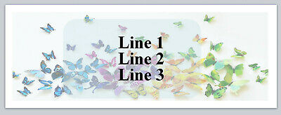 Personalized Address Labels Colorful Butterflies Buy 3 get 1 free (P 459)