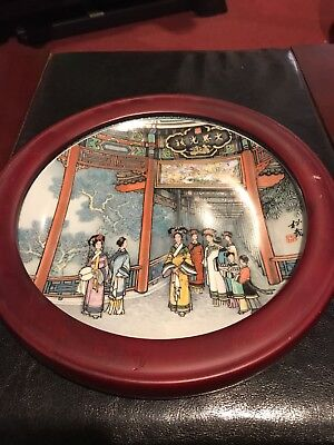 """1988 Imperial Jingdezhen Porcelain Plate 8-1/2"""" (one / 4 different) hard to find"""