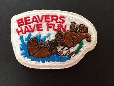 Boy / Girl Scouts - Wolf Cub -  Badge / Patch - Beavers Have Fun - Embroidered