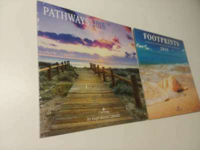 2 Lot- Pathway & Footprints 2016 Dayspring  Calendar  - ( Brand New Still Sealed