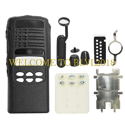 Pure Black Replacement limited-keypad Housing For Motorola HT1250 Portable Radio