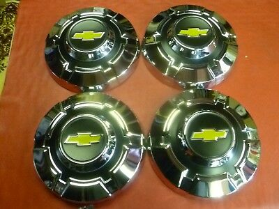 Nos 1967-72 Chevy 3/4 Ton 2500 3500 Dog Dish Poverty Hubcaps Wheel Covers