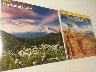 2 Lot- National Parks & America 2016 Calendar  ( Brand New Still Sealed ) **