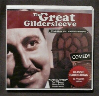 The Great Gildersleeve 20 Classic Radio Shows 10 CDs Discs Willard Waterman Case