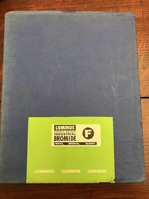 """Vintage Expired Luminos Commercial F Single Weight 8x10"""" Projection Paper Box"""