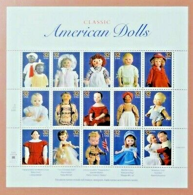 Scott #3151 Classic American Dolls Mint Sheet ( Face Value - $4.80 )