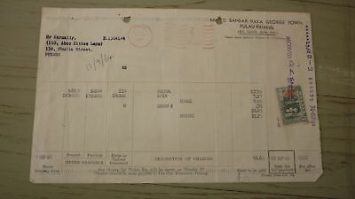 OLD BANK PROMISSORY NOTE REVENUE RECEIPT, MALAYSIA, WATER & SEWAGE RATE 6c STAMP