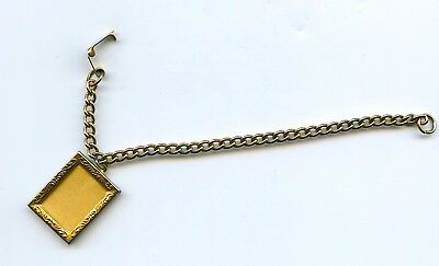 Vintage Small Bracelet With Photo Locket Gold Tone