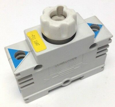 Wohner Fuse Holder Block 16A 400V 1P Din Rail Mount 16 Amp 400VAC 1 Pole Used