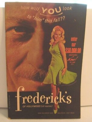 Vintage 1968 Frederick's of Hollywood Fashion Catalog Lingerie Sexy 1960s 60s