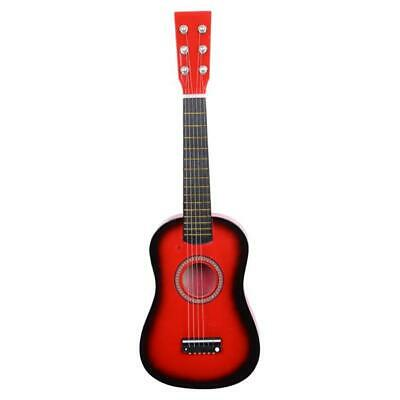 "23"" Wood Beginners Acoustic Guitar with Guitar Pick Steel 6 String Red"