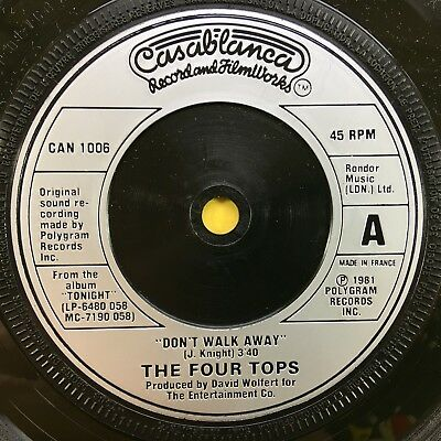 The Four Top - Don't walk away / I'll Never Leave Again - Casanova can-1006 EX+