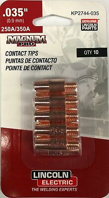 "Lincoln Magnum Pro Tapered Contact Tips .030/"" 250A//350A  qty10  KP2744-030T"