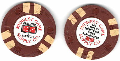 """Midwest Game Supply Co """"speed dice"""" rim mold advertising gambling chip,excel"""