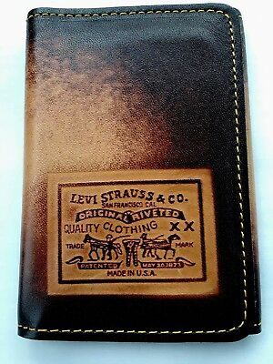 Vintage 1970's Levi Strauss & CO. Leather Tri-fold Wallet Very Rare