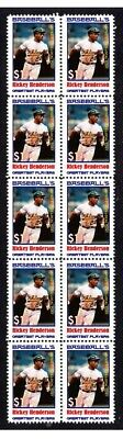 Rickey Henderson Baseball Great Strip Of10 Mint Stamps2