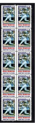 Rickey Henderson Baseball Great Strip Of10 Mint Stamps5