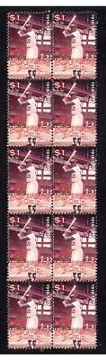 Jackie Robinson Baseball Legend Strip Of Mint Stamps 3