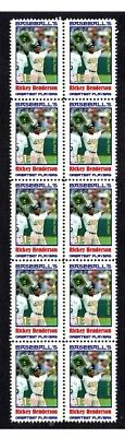 Rickey Henderson Baseball Great Strip Of10 Mint Stamps3