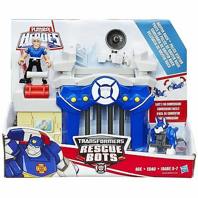 NEW Playskool Heroes Transformers Rescue Bots Griffin Rock Police Station