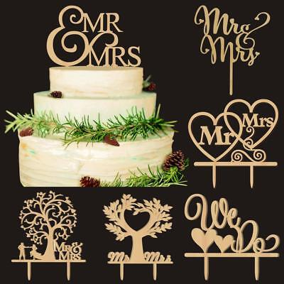 Rustic Wedding Wooden Letter Cake Topper Anniversary Decoration w/ Gift Packing