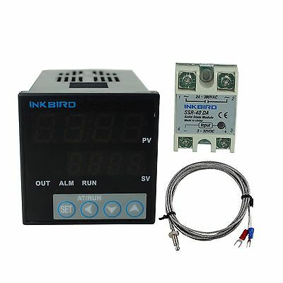 Inkbird Digital PID Temperature Controller & K SENSOR & 40 SSR Thermostat 110v