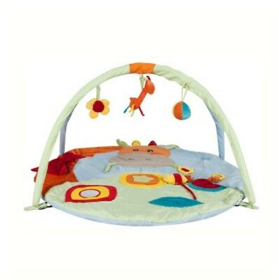 D28 Cartoon Animal Baby Bodybuilding Frame Velvet Cotton Play Mat Activity Gym A