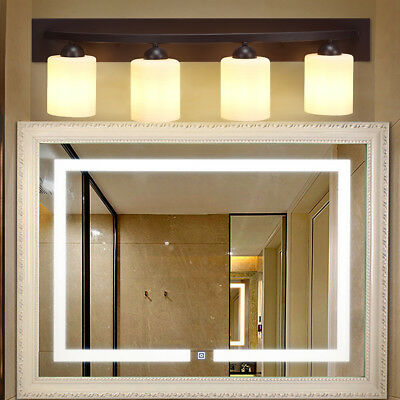 LIGHT GLASS Wall Sconce Light Lamp Shade Cover Fixture Vanity - 4 light bathroom sconce