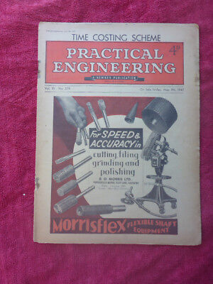Vintage Practical Engineering Magazine - Time Costing. May 1947