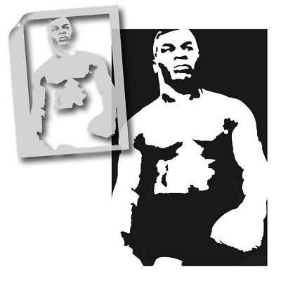 Mike Tyson Stencil Wall Art Painting any surface Furniture ,T shirt, Reusable