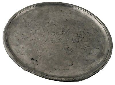 An Early 18th Century, Richard King, Very Narrow-rimmed Pewter Dish