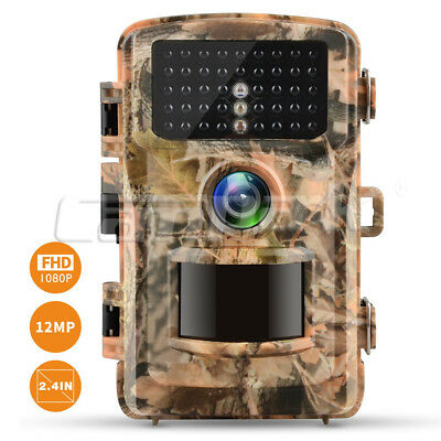 Fotocamera da Caccia 12MP HD 1080P Trail Game Camera 42pcs IR Infrarossi LEDs DE