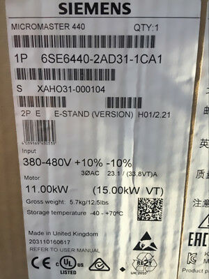 1PC Brand NEW IN BOX SIEMENS 6SE6440-2AD31-1CA1