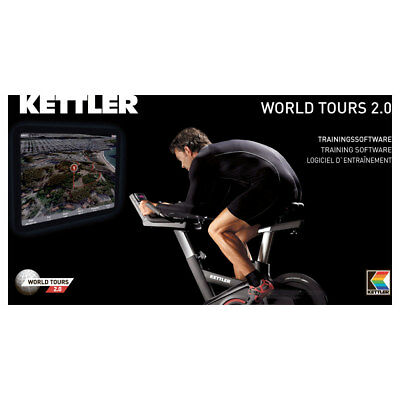 KETTLER World Tour 2.0 Trainingssoftware für Ergometer Crosstrainer Laufband