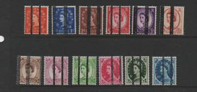 GB 1950's Wildings POST OFFICE TRAINING SCHOOL STAMPS selection 12 MNH stamps