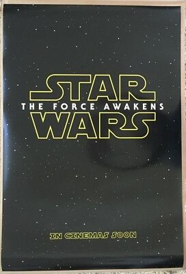 STAR WARS THE FORCE AWAKENS MOVIE POSTER DS ORIGINAL EXL 27x40 EPISODE VII
