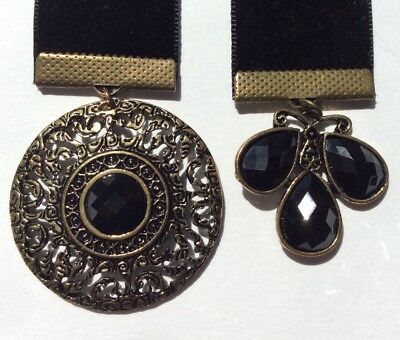 Black Velvet Bookmark, BUY 3, GET ONE FREE!, Antique Look Charms, Book Mark