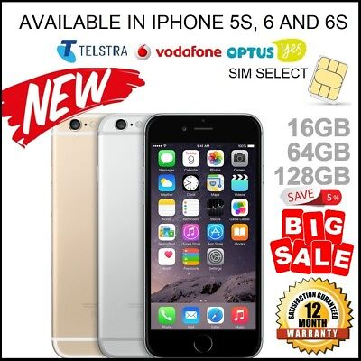 NEW Apple iPhone 6 6s + Grey Silver Gold Smartphone 4G 100% Unlocked 12 MTH WTY