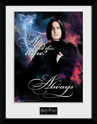 Harry Potter Snape Always Framed Collector Print Wizarding 30x40cm   12x16