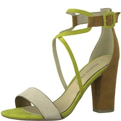 d33b473b6b Ladies Marco Tozzi Lime Combo Heeled Sandals with Ankle Strap UK 4 - 8 28317
