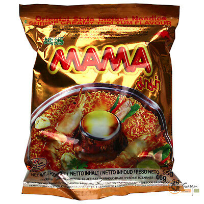 1Karton (30x55g) Mama Instantnudeln Tom Yum Shrimps Creamy Istant Nudelsuppe