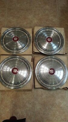 """4 NEW 15"""" 1978 79 Cadillac Deville Coupe Sedan OEM Hubcaps Wheel Covers 3517189"""