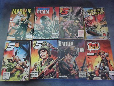 lot 8 albums reliés impéria battler britton sergent guam marouf les 5 as lot 18